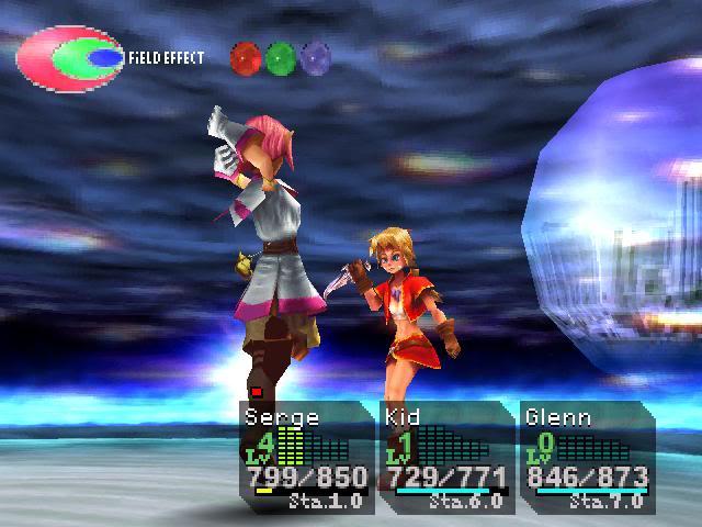 Chrono Cross battle