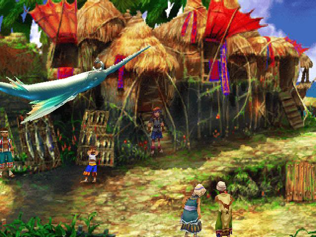 Chrono Cross fishing village