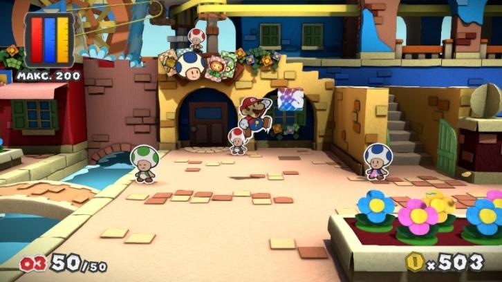 Paper Mario: Color Splash обзор игры
