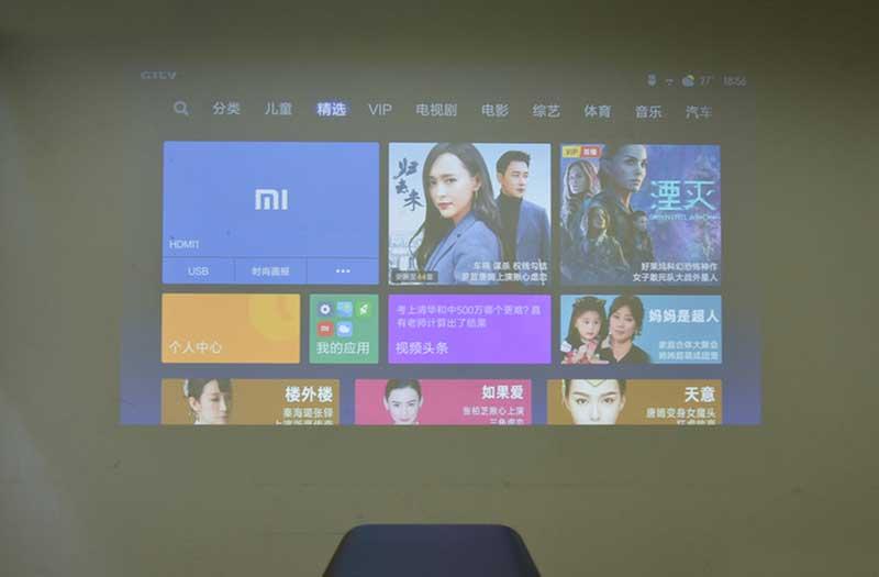Яркость Xiaomi Mijia Projector TYY01ZM