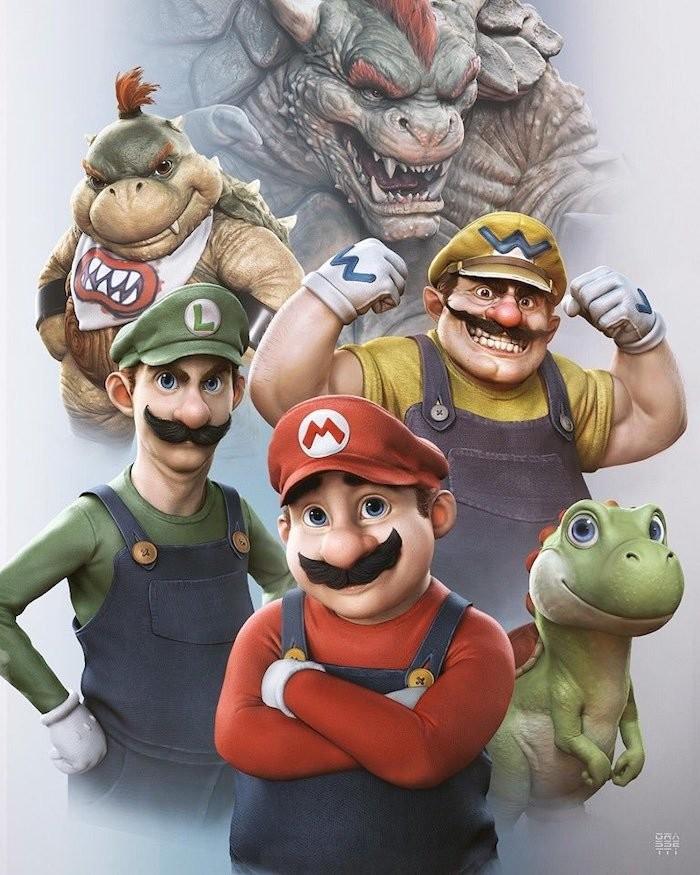 Арт-директор God of War нарисовал Марио и Луиджи в реалистичном стиле