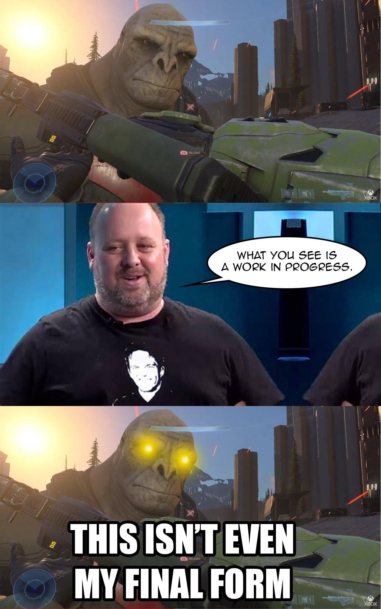 """У """"дрейкфейса"""" появился конкурент: Пользователи сети активно создают мемы с Halo Infinite"""